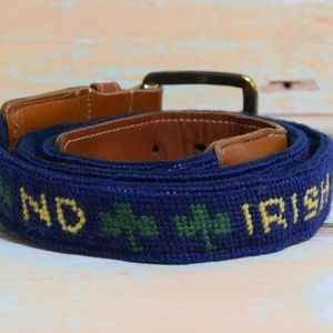 Other - NOTRE DAME Fighting Irish Knit/Leather Custom Belt
